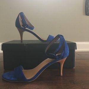 Talbots royal blue strappy heels